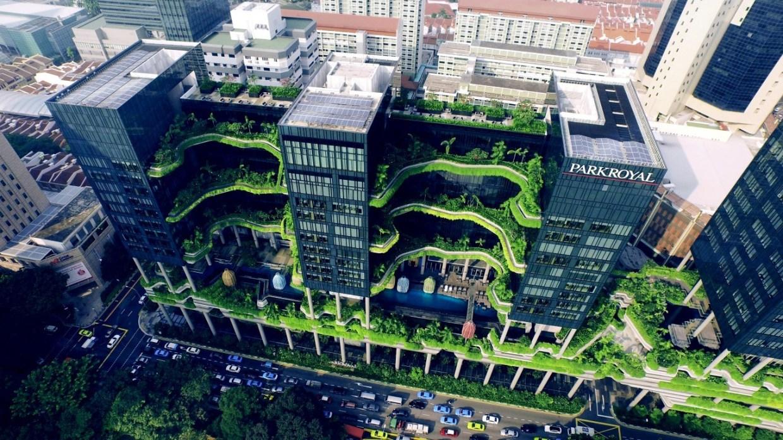 Умный дом. PARKROYAL on Pickering Hotel,Singapore(2007-2013) WOHA©SkyshotPte Ltd