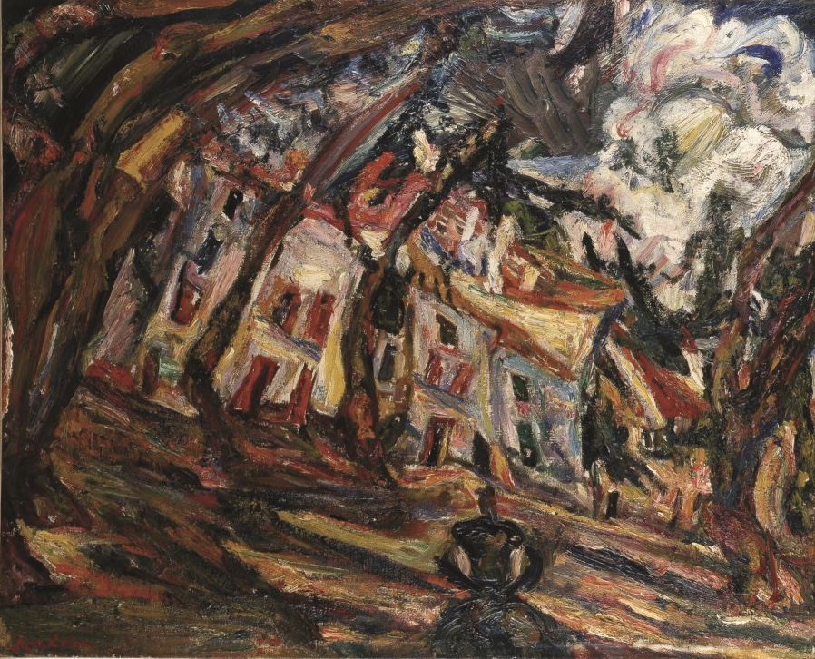 Хаим Сутин. Village Square at Ceret -1920, масло, холст. Bequest of SidneyBernstein, London – Permanent loan from The Jerusalem Foundation, Israel Museum. Фото: Авишалом Авиталь. Предоставлено музеем искусств «Мишкан ле-Оманут» Эйн-Харод