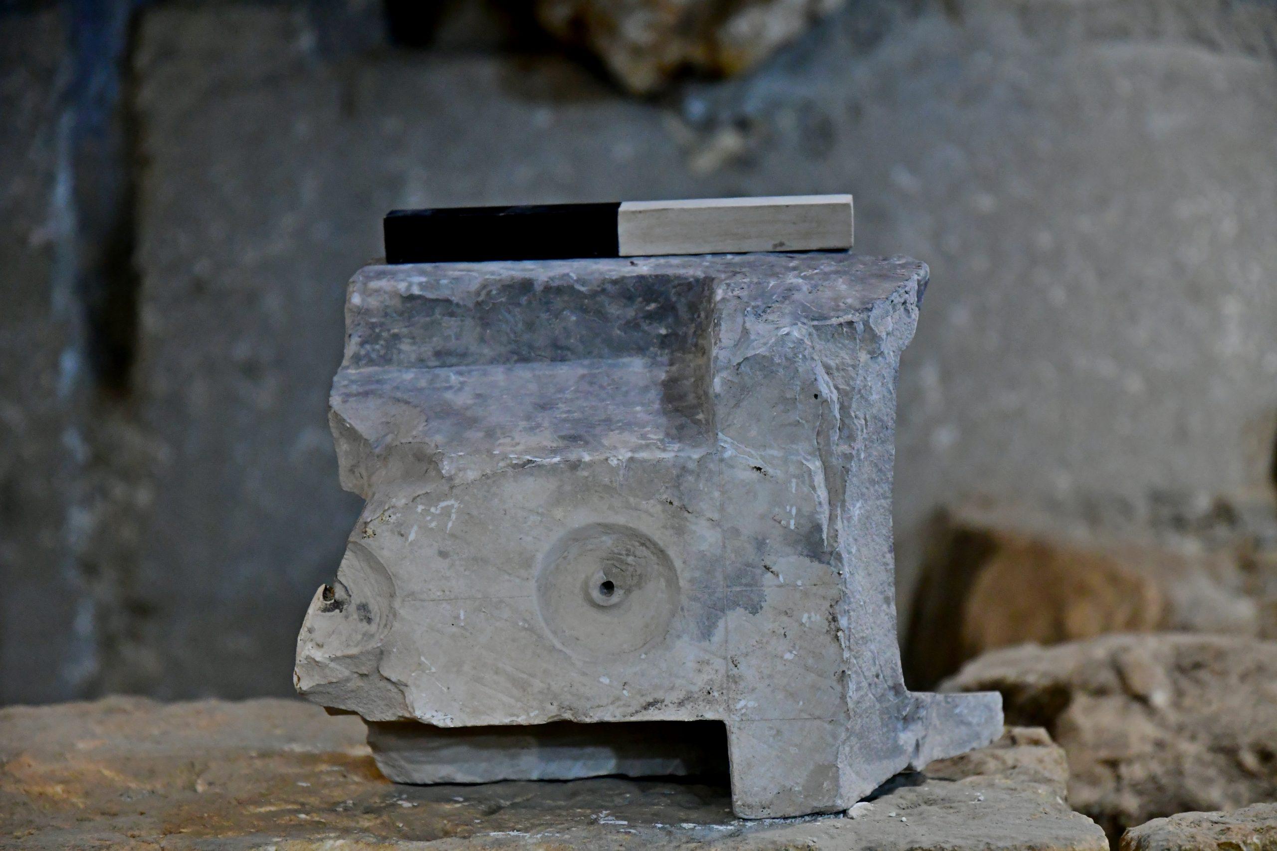 Град Давида. Весы для измерения объёма жидкости. Фото: Арье Леви. Представлено Управлением древностей Израиля