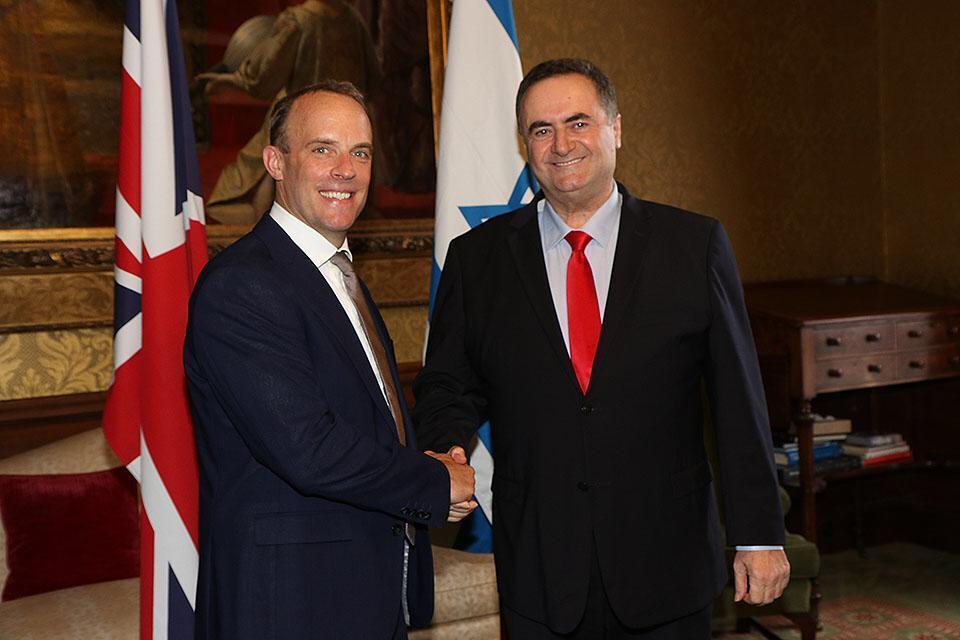 МИД Израиля. Министры иностранных дел Израиля и Великобритании. Фото: МИД