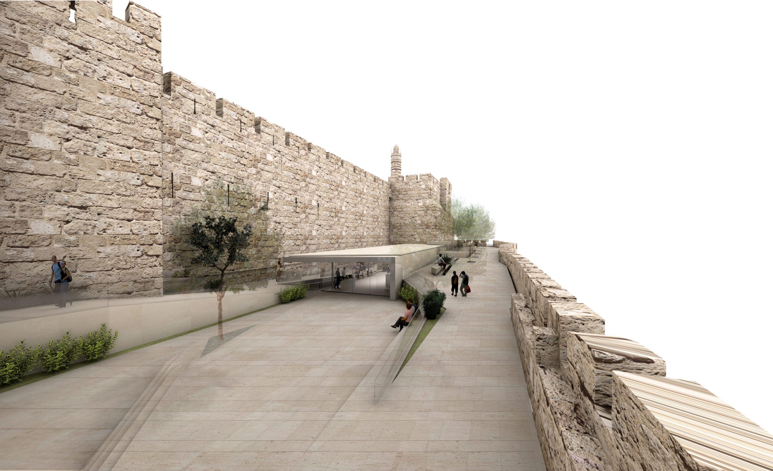 Иерусалим: новый вход в музей «Башня Давида»: архитектурный проект Kimmel Eshkolot. Предоставлено пресс-службой музея