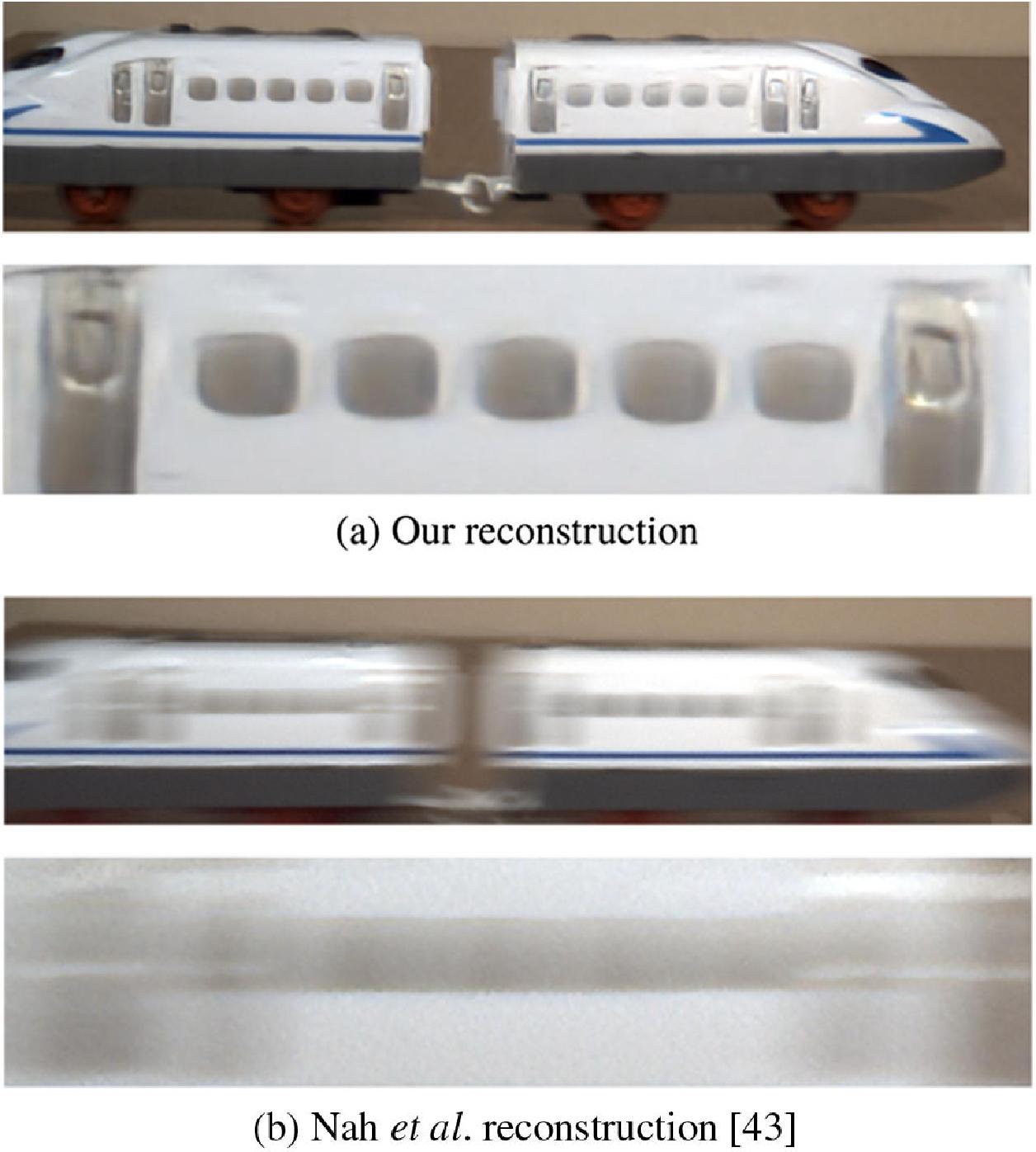 Революционная технология: Эксперимент с поездом: результаты воспроизведения движущегося поезда с использованием нового метода. Фото: OSA