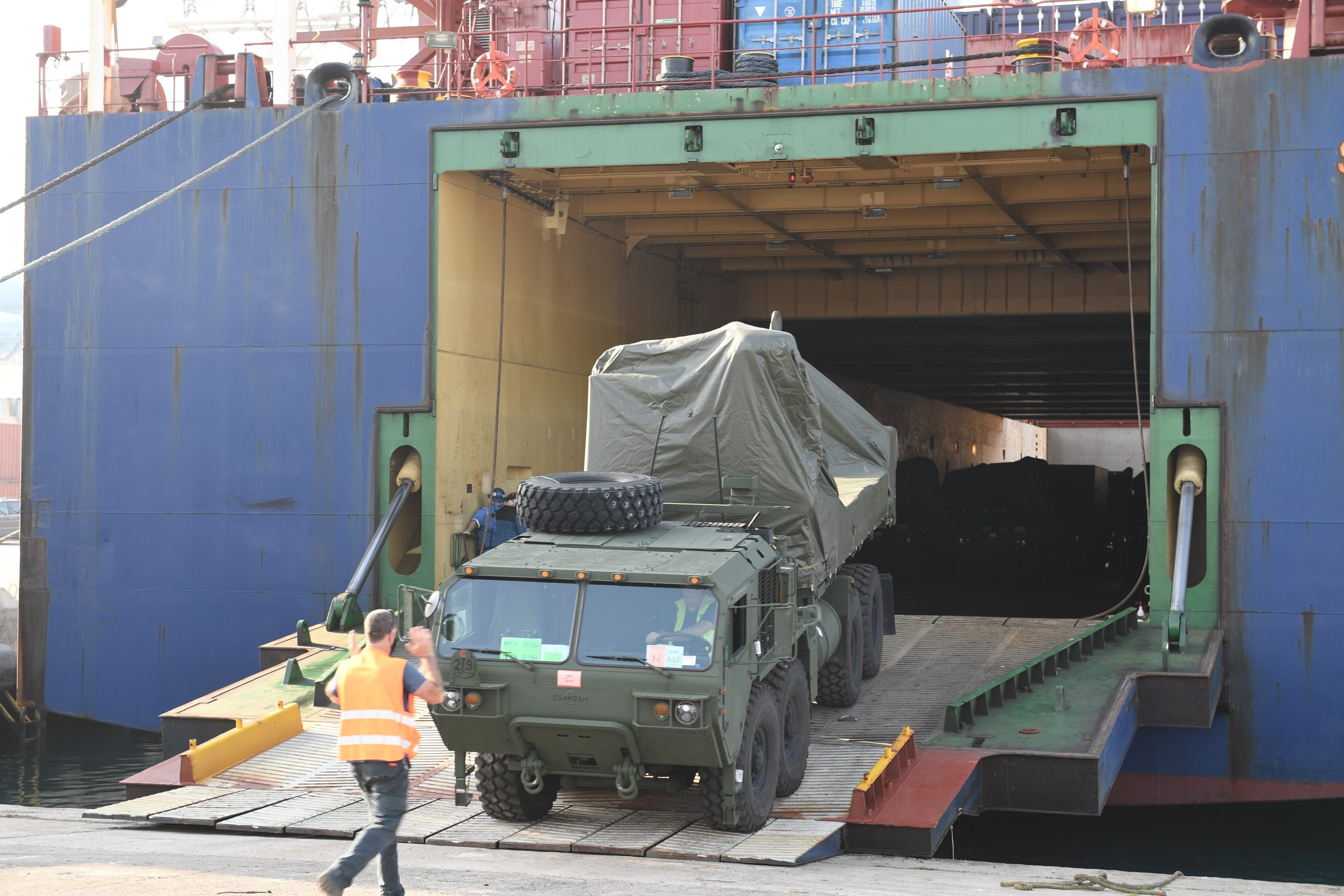 Батарея ПВО «Железный купол» прибыла в США. Фото предоставлено Министерством обороны Израиля