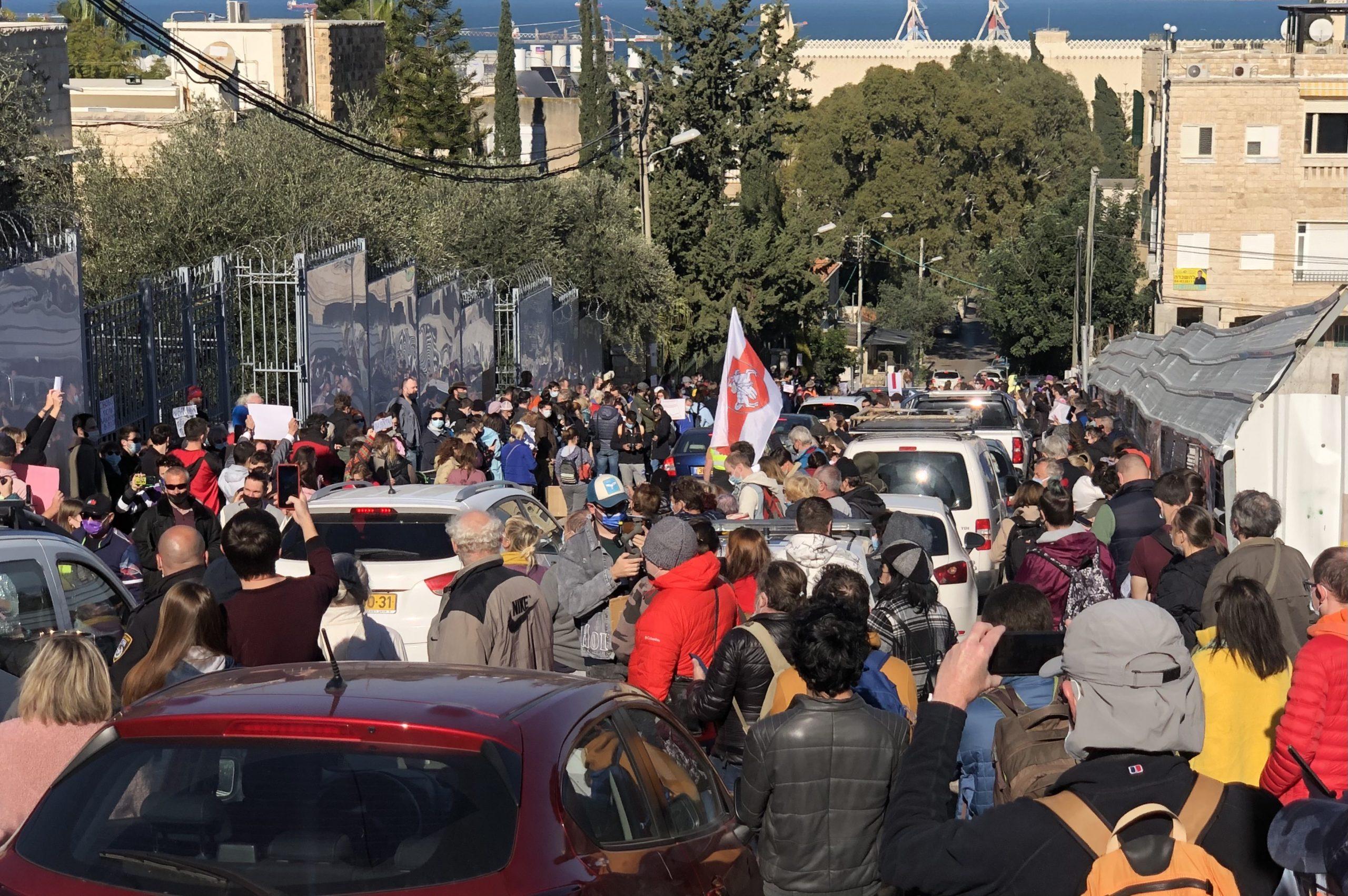 Израиль 23 января 2021: демонстрация в Хайфе. Фото Елены Шафран