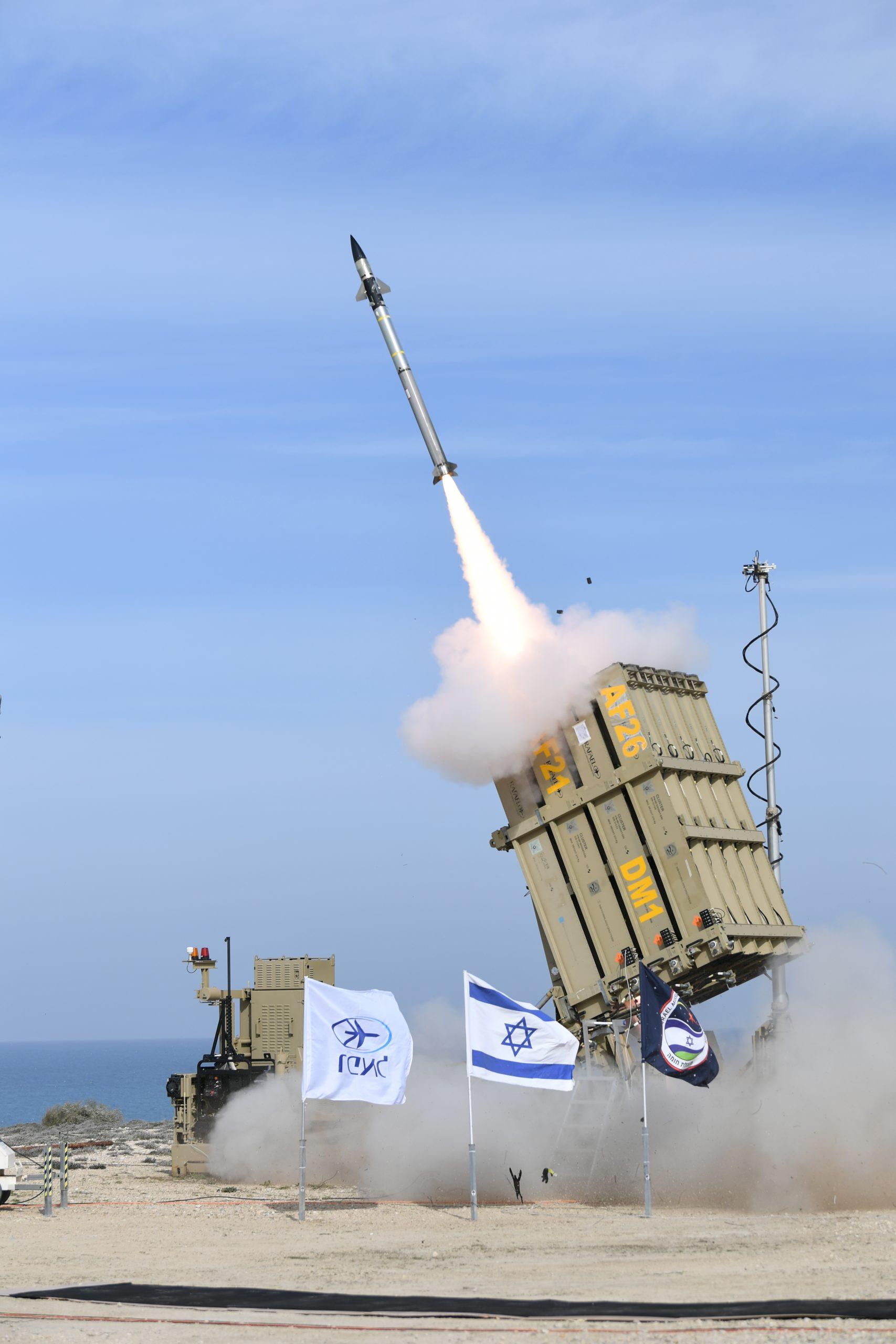 «Железный купол»: испытание новой версии: фото предоставлено Министерством Обороны Израиля