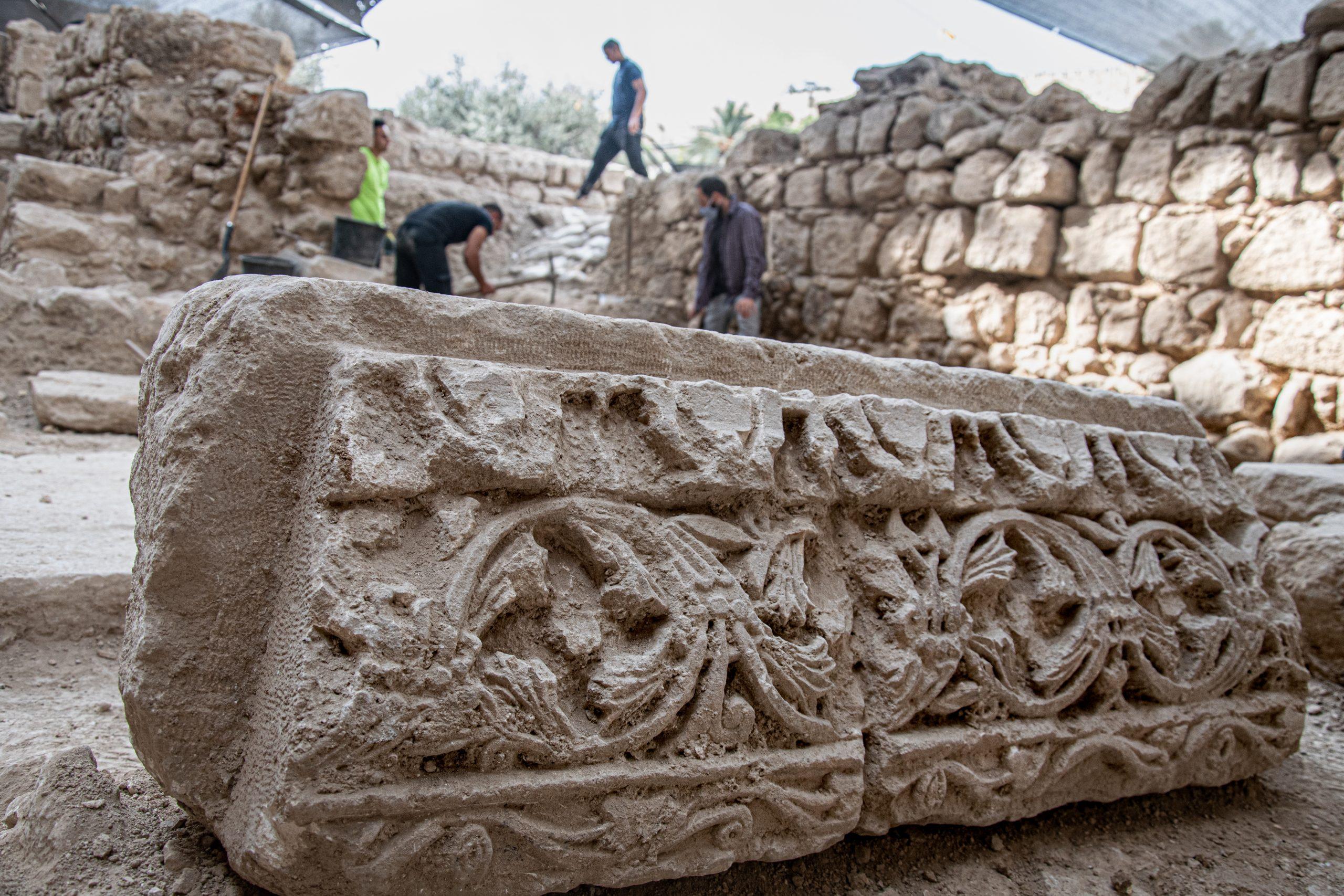 Гефсимания: фрагмент декора византийской церкви. Фото Йоли Шварц предоставлено Управлением Древностей Израиля